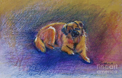 Pastel - Bella Dog Portrait by Joyce A Guariglia