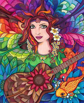 Bella Guitar Art Print