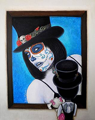 Bella Muerte A Work Of Art Art Print by Al  Molina