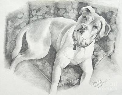 Drawing - Bella My Pup by Joette Snyder