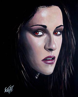 Bella Swan - Kristen Stewart Art Print by Tom Carlton