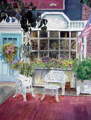 East Hampton Painting - Bella Victoria On Main by Katherine  Berlin