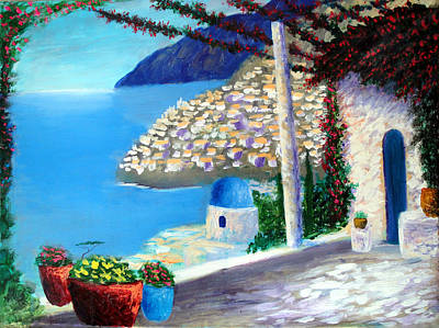 Painting - Bella Vista Di Amalfi by Larry Cirigliano