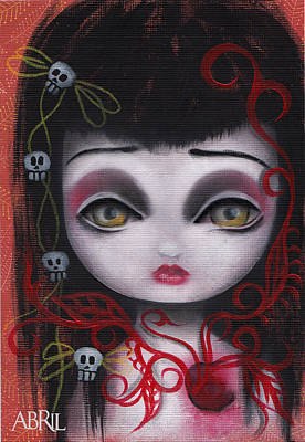 Big Eyed Girl Painting - Belladona by Abril Andrade Griffith