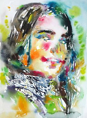 Foulard Painting - Belladonna by Fabrizio Cassetta