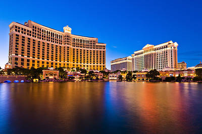 Bellagio And Caesars Art Print