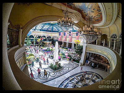 Bellagio Conservatory And Botanical Gardens Print by Edward Fielding