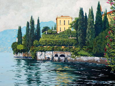 Lake Como Painting - Bellagio by Darrell Sheppard