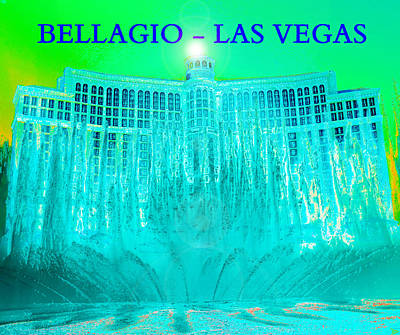 Painting - Bellagio Fountains Las Vegas by David Lee Thompson