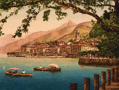 Lake Como Painting - Bellagio by John K Woodruff