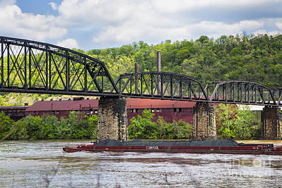 Photograph - Bellaire Old Bridge by Rick Bragan