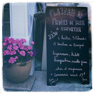 Photograph - French Chalkboard Menu by Kate McKenna