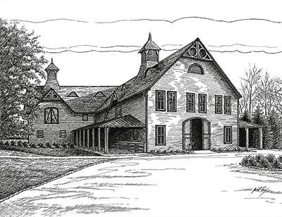 Drawing - Belle Meade Plantation Carriage House by Janet King