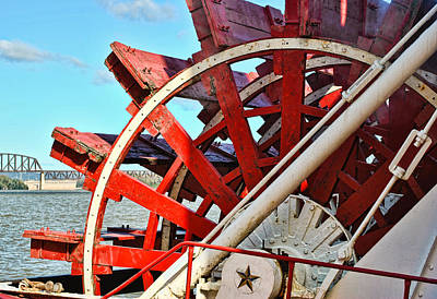 Photograph - Belle Of Louisville Paddlewheel 2 by Greg Jackson