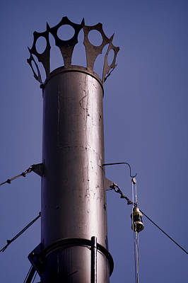 Photograph - Belle Of Louisville Smokestack And Lantern 1a by Greg Jackson