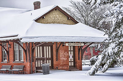 Bellefonte Wall Art - Photograph - Bellefonte Train Station by Gregory Gill