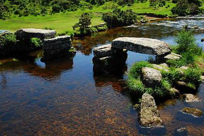 Dartmoor Photograph - Bellever Clapper Bridge Dartmoor by Rachel Burch