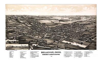 Bellevue - Ohio - 1888 Art Print