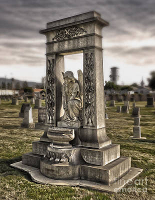 Photograph - Bellevue Cemetery Crypt - 01 by Gregory Dyer