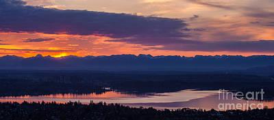 Serene Landscape Photograph - Bellevue Eastside Sunrise by Mike Reid