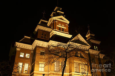 Photograph - Bellingham Old City Hall At Night by John  Mitchell