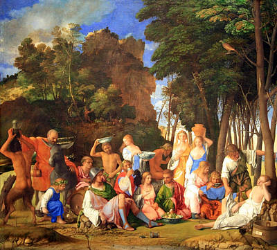 Photograph - Bellini's Titian's The Feast Of The Gods by Cora Wandel