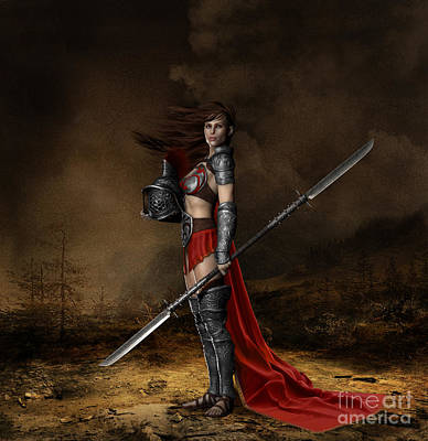 Digital Art - Bellona Goddess Of War by Shanina Conway