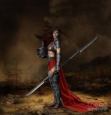 Female Body Digital Art - Bellona Goddess Of War by Shanina Conway
