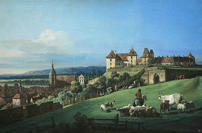 Photograph - Bellotto's Pirna -- The Fortress Of Sonnenstein by Cora Wandel