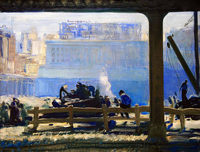 Photograph - Bellows' Blue Morning by Cora Wandel