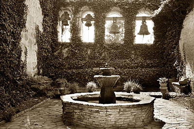 Photograph - Bells At Mission San Juan Capistrano California 1925 by California Views Archives Mr Pat Hathaway Archives