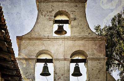 Israeli Flag - Bells of Mission San Diego by Joan Carroll