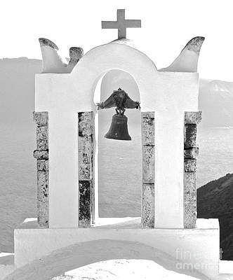 Photograph - Bells Of Santorini  by Suzanne Oesterling