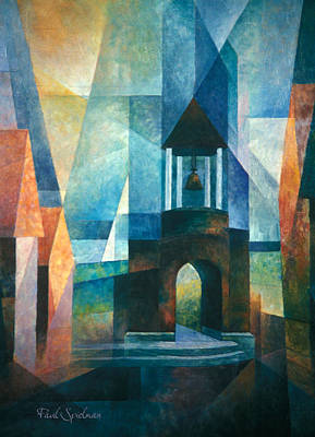 Ballard Painting - Belltower by Spielarts Prints