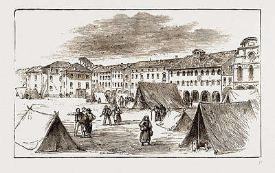 Belluno - The Piazza Campitelli  The Inhabitants Taking Art Print by Litz Collection