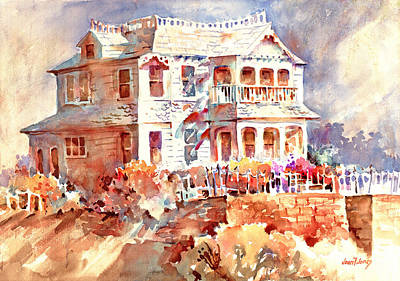 Painting - Belluz House by Joan  Jones