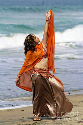 Bellydance Photograph - Belly Dance By The Beach II by Louie Musa