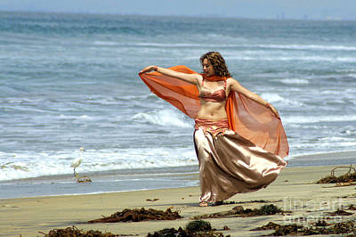 Bellydance Photograph - Belly Dance By The Beach by Louie Musa