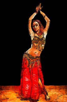 Arabian Painting - Belly Dancer by George Rossidis