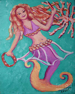 Painting - Belly Dancer Mermaid by Audrey Peaty