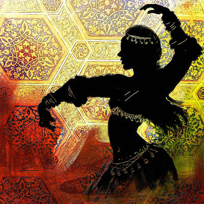 Abstract Belly Dancer 12 Art Print
