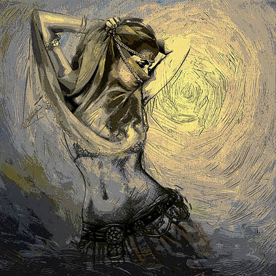 Painting - Abstract Belly Dancer 3b by Corporate Art Task Force