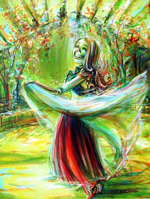 Painting - Belly Dancing Beauty by Heather Calderon