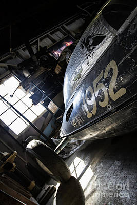 Royalty Free Images Photograph - Belly Tanker - Old Crow Speed Shop- Metal And Speed by Holly Martin