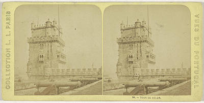 Belém Tower Or The Tower Of St Vincent Is A Fortified Art Print