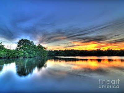 Belmont Lake State Park Wall Art - Photograph - Belmont Sunset by Adam Daley