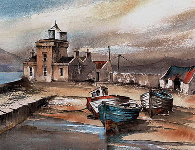 Mayo Painting - Belmullet Lighthouse  Mayo by Val Byrne