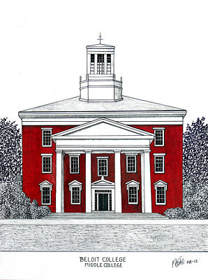 Drawing - Beloit College by Frederic Kohli
