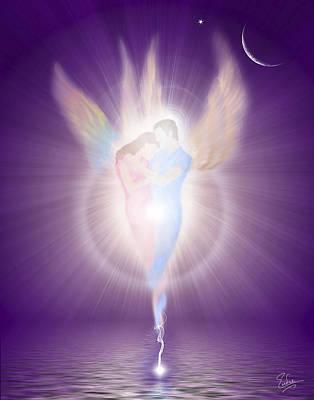 Digital Art - Beloved Angels by Endre Balogh