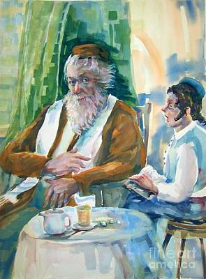 Talmud Painting - Beloved Teacher by Shirl Solomon